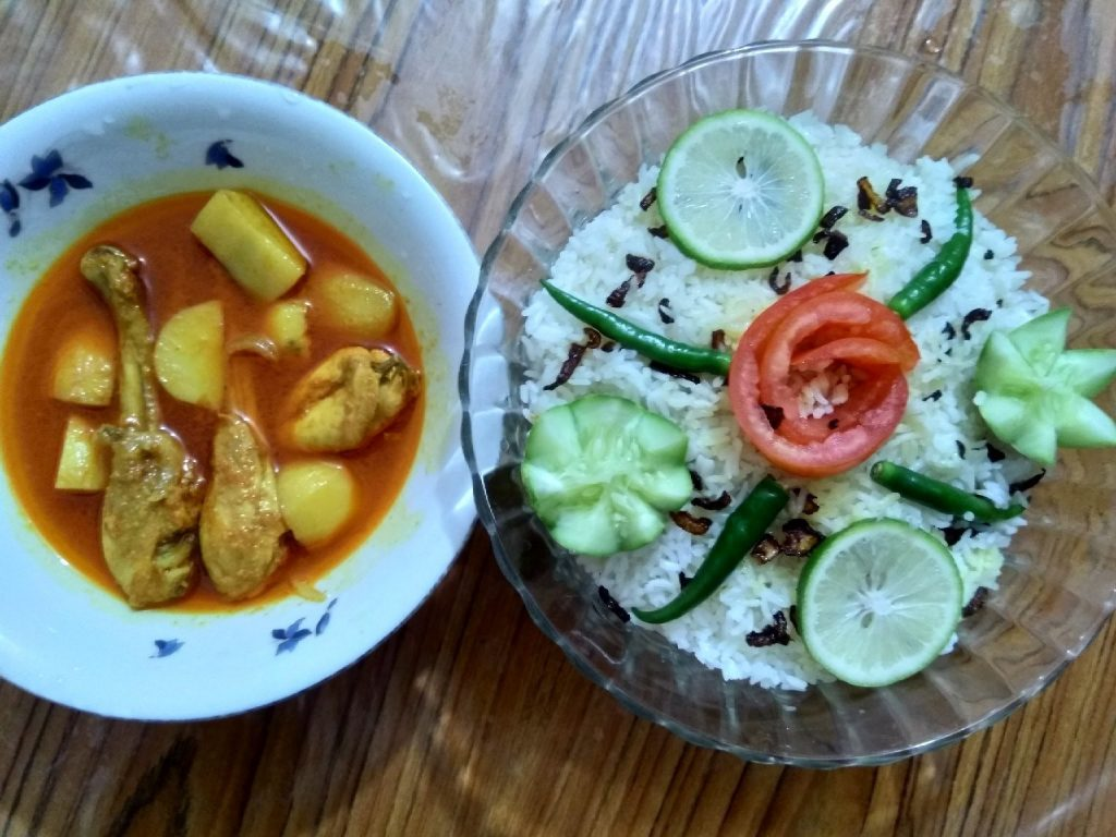Polao with Spicy Chicken Curry from Marshia's Dine