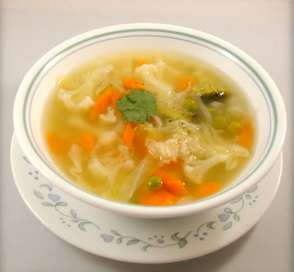 Vegetable Clear Soup from Homemade Food Factory