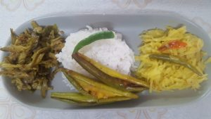 Rice & Fish Chorchori Plater from Mou's Kitchen