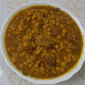 Beef with Cholar Dal Curry from Mou's Kitchen