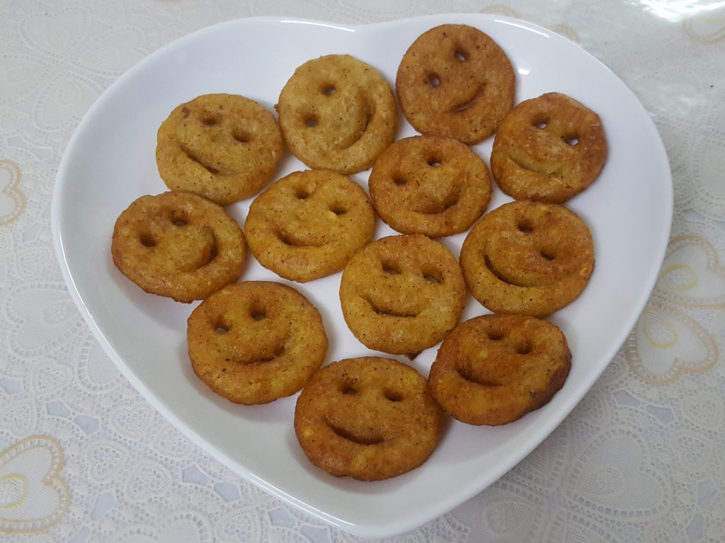 Potato Smiles from Mou's Kitchen