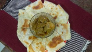 Khaasta Paratha(half fried) with Beef