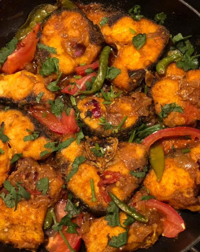 Rui Fish Bhuna from Nusrat's Kitchen