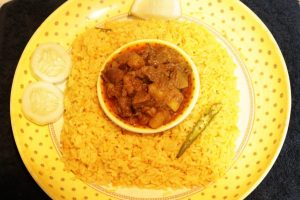 Khichuri with Chicken Lever Bhuna from Ratna's Kitchen