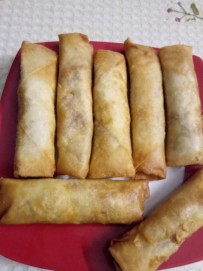Chicken Spring Roll from Angry Mom's Kitchen