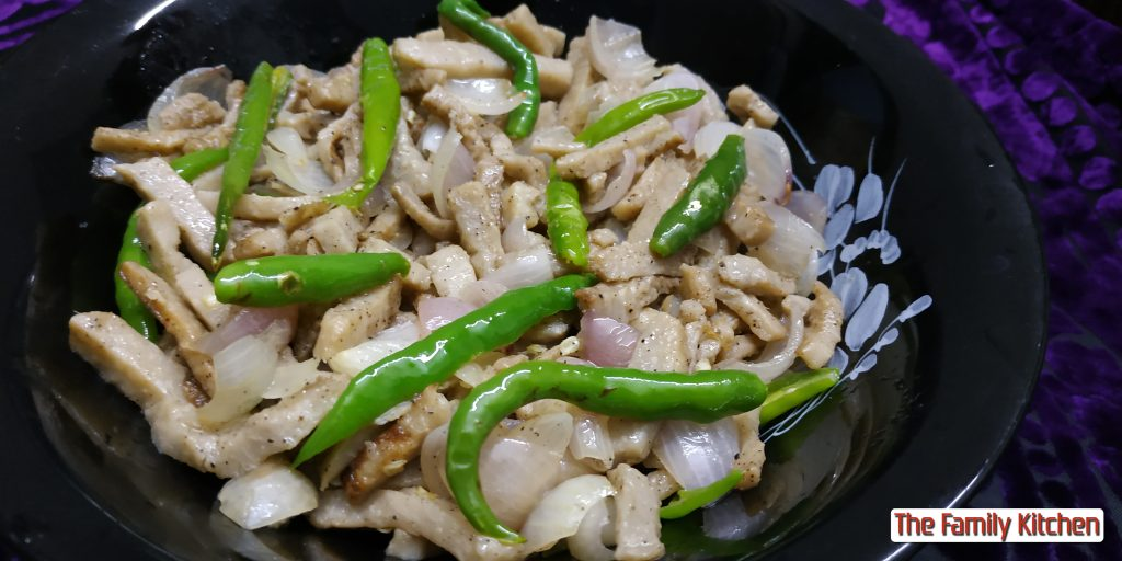 Healthy Kochu Chilli from The Family Kitchen