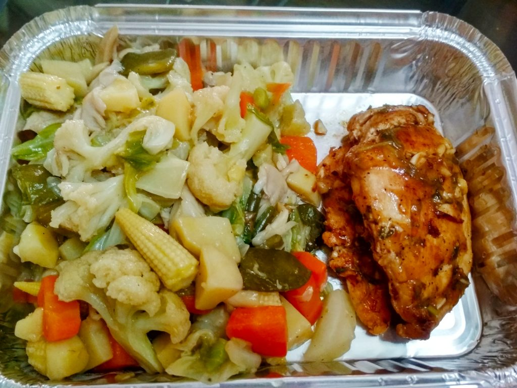 Sauteed Vegetables and Grilled Chicken from Nilima Rannaghor