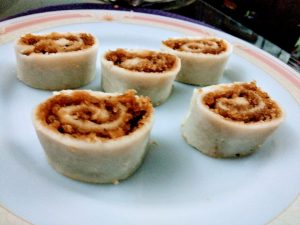 Roll Steamed Puli Pitha