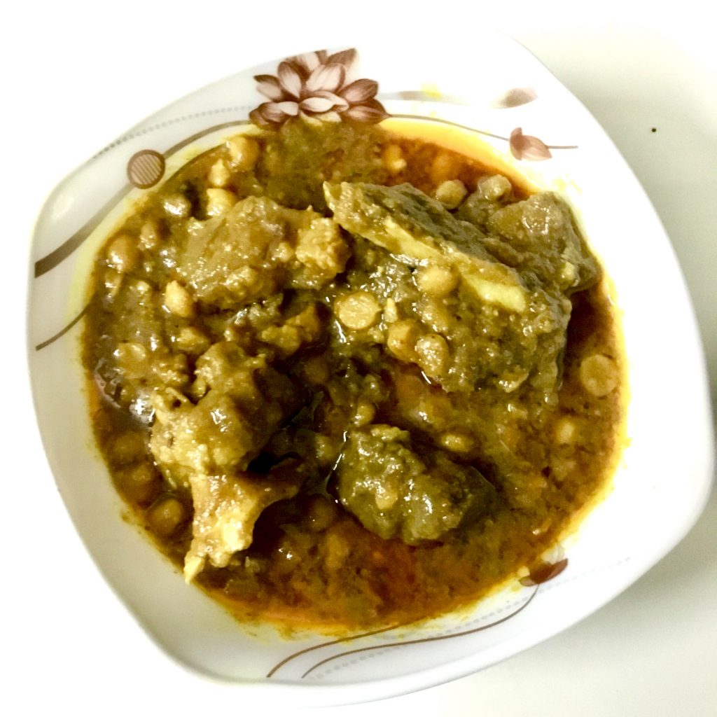 Buter Daal with Gorur Mathar Mangsho from Shokal