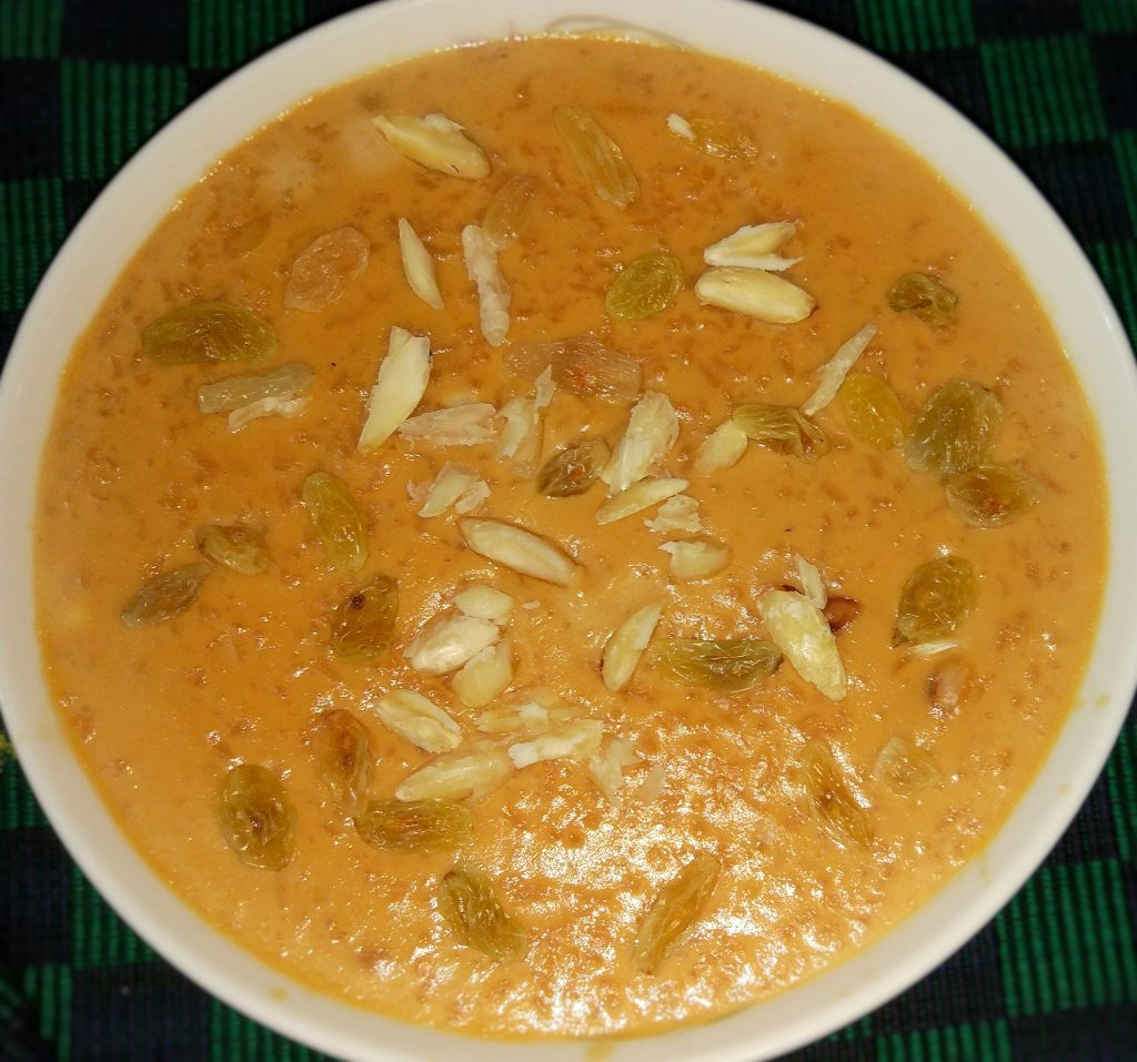 Khejurer Gurer Payesh from Tahira's Cookhouse