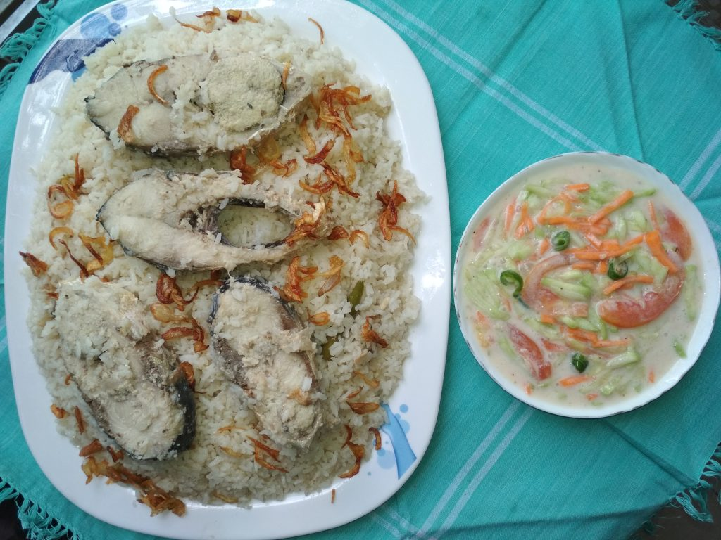 Iilish Polao with Raita from Dipti's Cookhouse