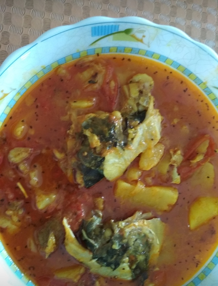 Tomato'r Khatta with Karol Mach er Matha (1kg+) from Dipti's Cookhouse