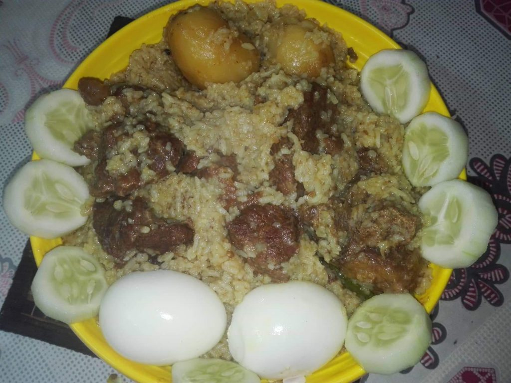 Beef Biriyani with Egg from Nasrin's Kitchen
