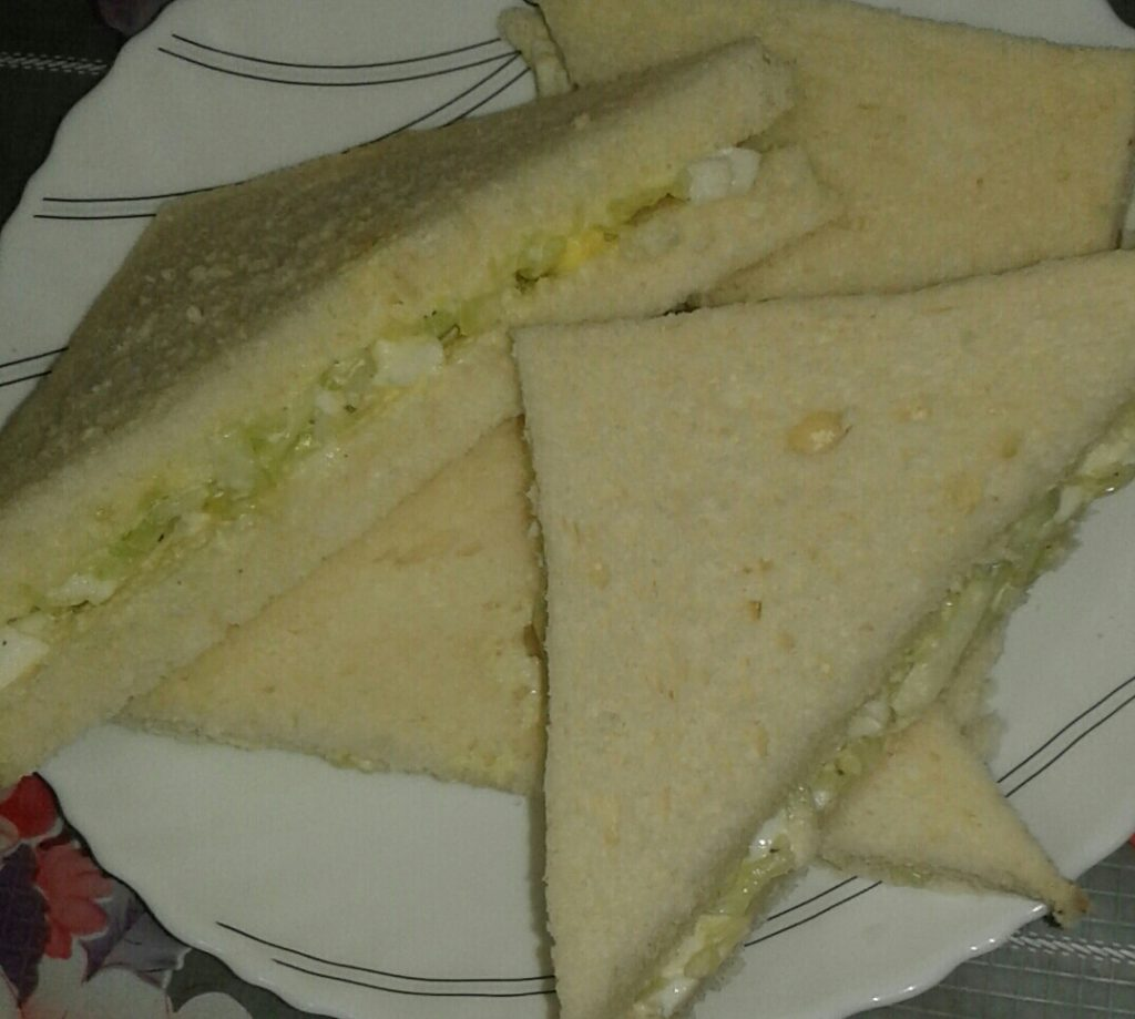 Egg & Vegetable Sandwich from My Dream