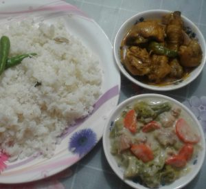 Polaw with Chicken Vuna & Mixed Vegetable from My Dream