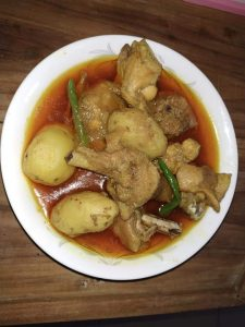 Deshi Murgi with Alu Curry