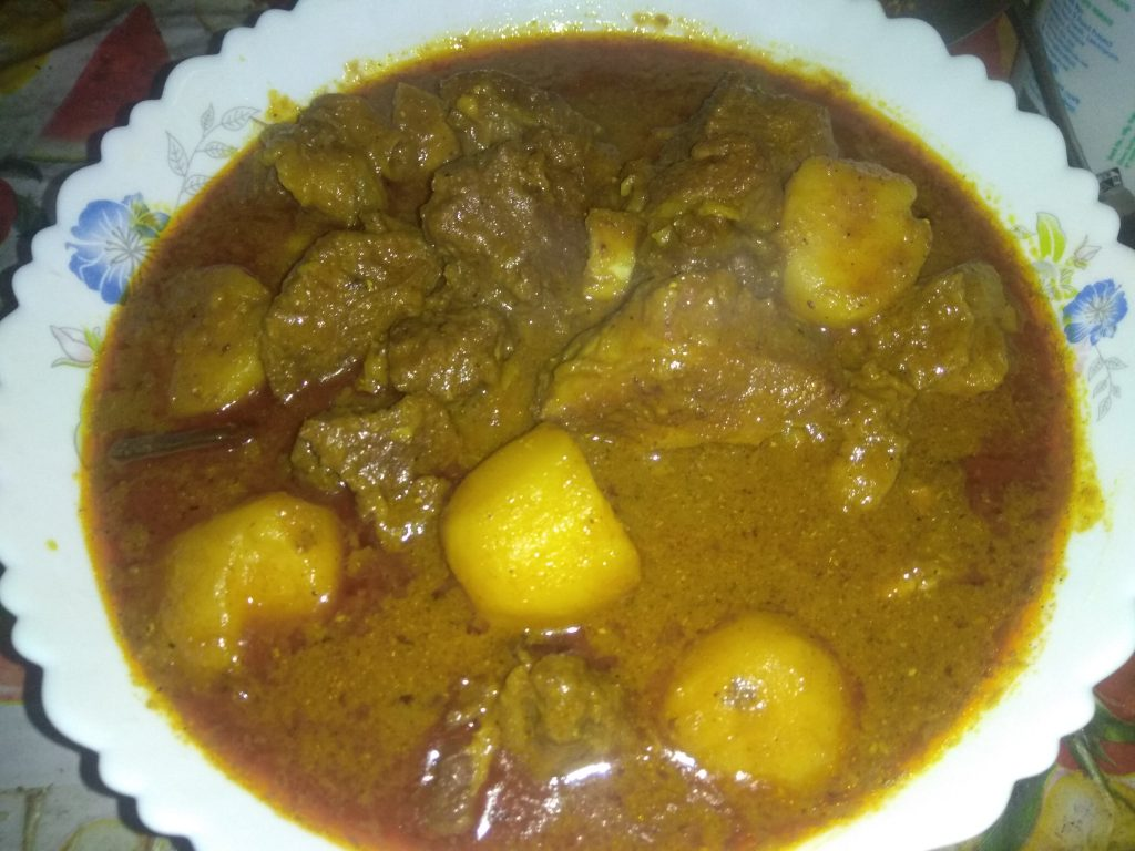 Beef with Alu Curry from It's Mamma's Kitchen