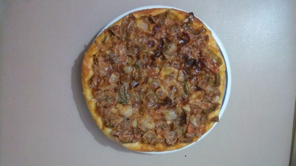 Chicken Cheese Pizza from Rabeya's Kitchen
