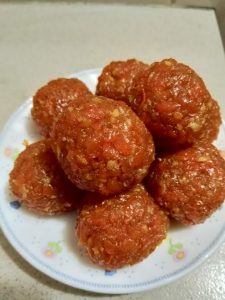 Gajorer Laddu from Arisha's Kitchen