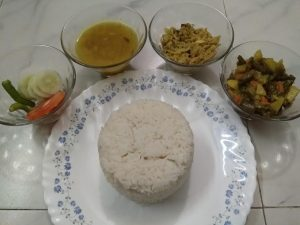 Vaat+Shobji+MacherVorta+Daal from Kory's Recipe